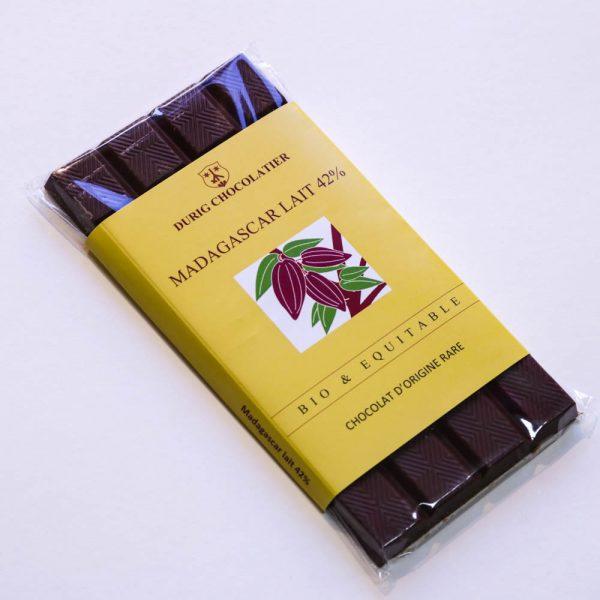 Durig Chocolatier - Chocolat bio et équitable madagascar lait 48%