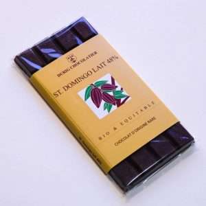 Durig Chocolatier - Chocolat bio et équitable St, Domingue lait 48%