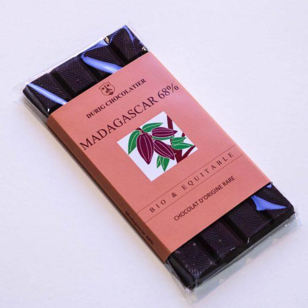 Durig Chocolatier - Chocolat bio et équitable madagascar noir 68%