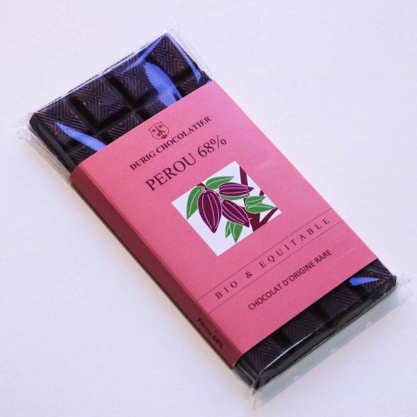 Durig Chocolatier - Chocolat bio et équitable perou noir 68%