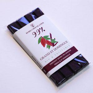 Durig Chocolatier - Chocolat bio et équitable noir 99%