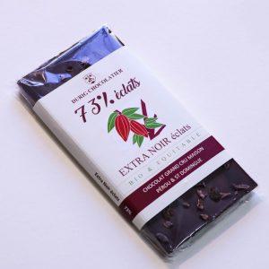 Durig Chocolatier Lausanne - Chocolat bio et equitable extra noir 73%