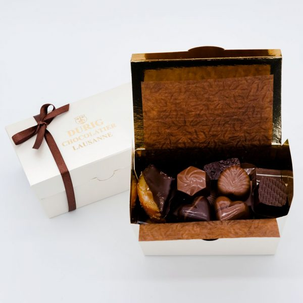 Durig Chocolatier Lausanne - 125g Box of dark organic and fair chocolates