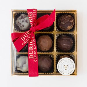 Durig Chocolatier Lausanne - Box of 9 organic chocolate truffles