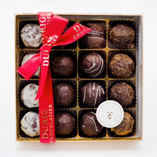 Durig Chocolatier Lausanne - Box of 16 organic chocolate truffles