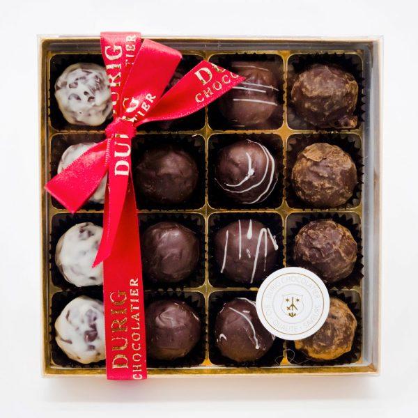DURIG - Boîtes de chocolats - Boîte de 16 truffes au chocolat bio