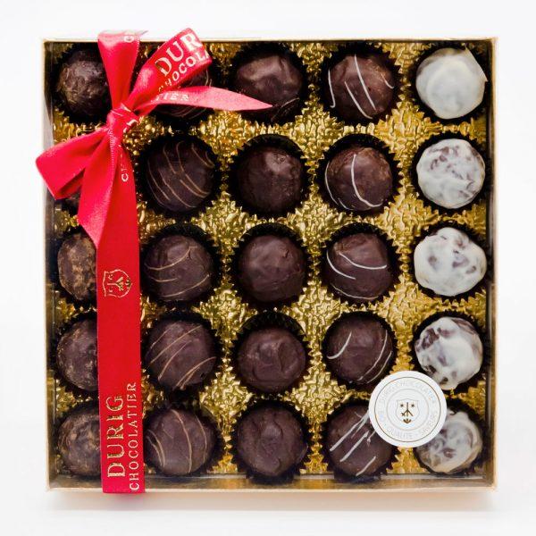 DURIG - Boîtes de chocolats - Boîte de 25 truffes au chocolat bio