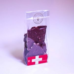 Swiss Organic milk chocolate and hazelnut shards