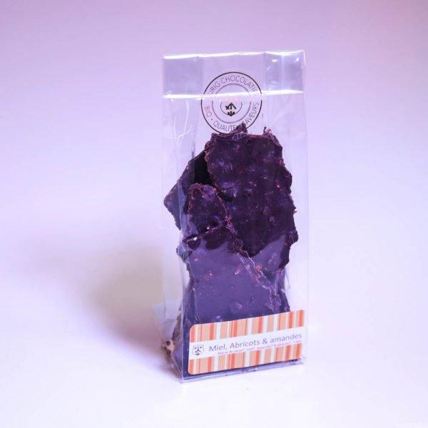 Miel amandes abricots: Chocolat noir 75%, bio & équitable