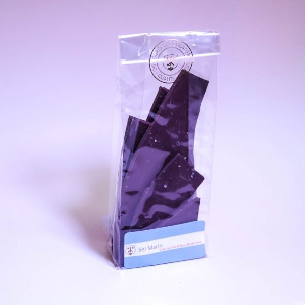 Sel marin: Chocolat noir 68%, Bio & équitable