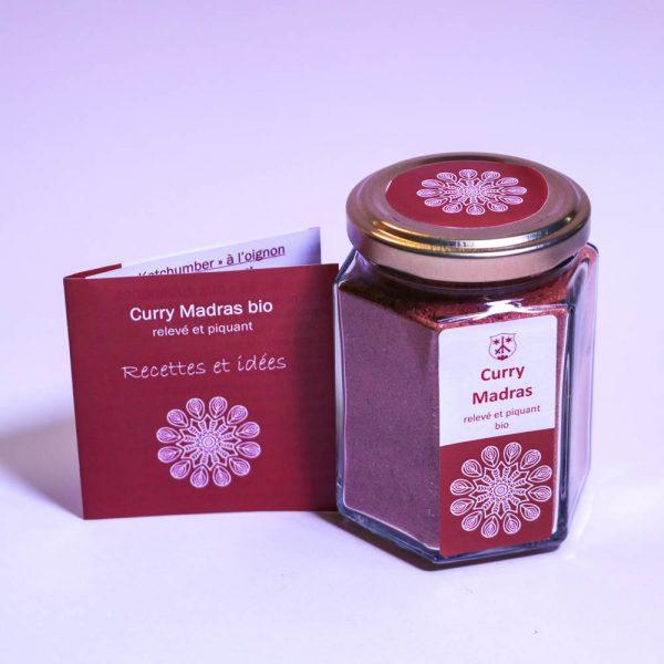 Mélange d'épices bio pour le curry Madras