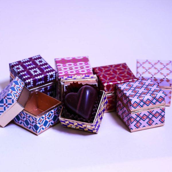 Boîte de cadeau un chocolat