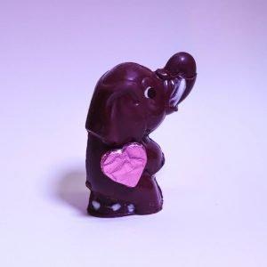 Petit éléphant en chocolat bio et équitable