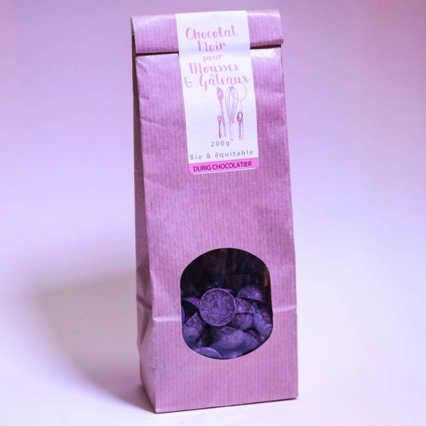 Durig Chocolatier Lausanne - Organic dark chocolate drops