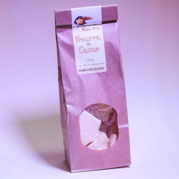 Durig Chocolatier Lausanne: Beurre de cacao bio et cru