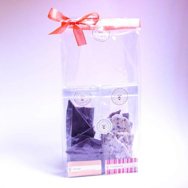 sachets cadeau d'éclats de chocolat bio & équitable