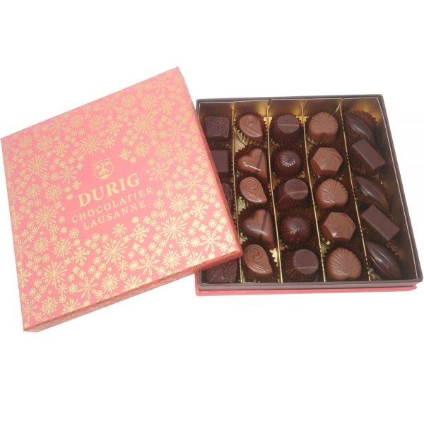 25 piece organic and fair Christmas chocolate box