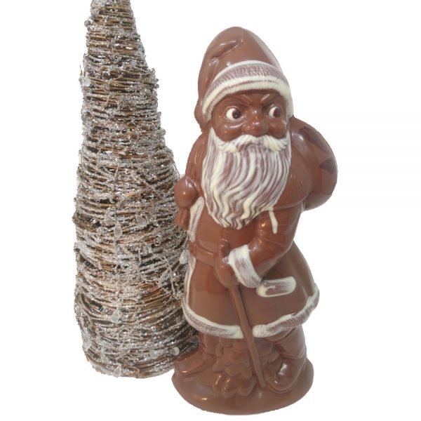 Giant organic milk chocolate Santa