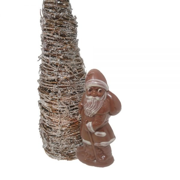 Organic and fair milk chocolate Santa