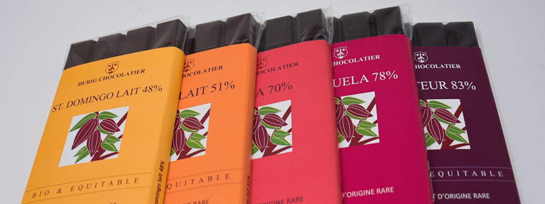 Durig Chocolatier Lausanne Chocolate organic bars