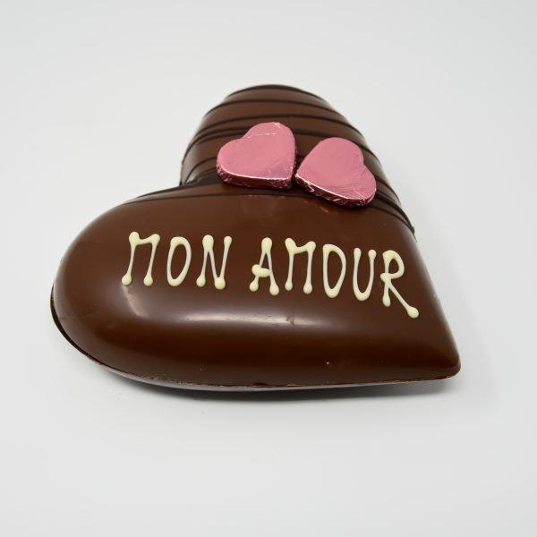 Durig Chocolatier Lausanne: Mon Amour - Coeur chocolat au lait bio