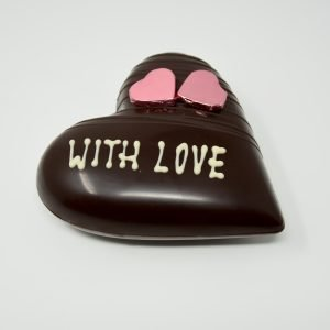 Durig Chocolatier Lausanne: With Love - Coeur chocolat noir bio