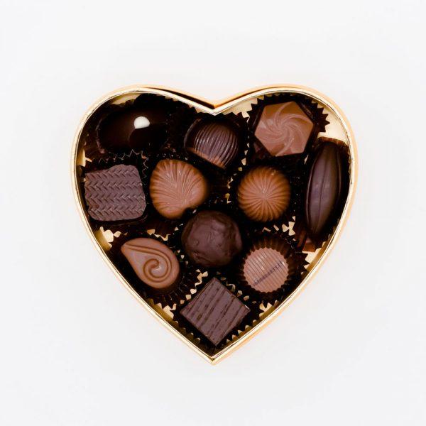 DURIG Chocolatier- Boîte coeur rempli de chocolats bio et équitables