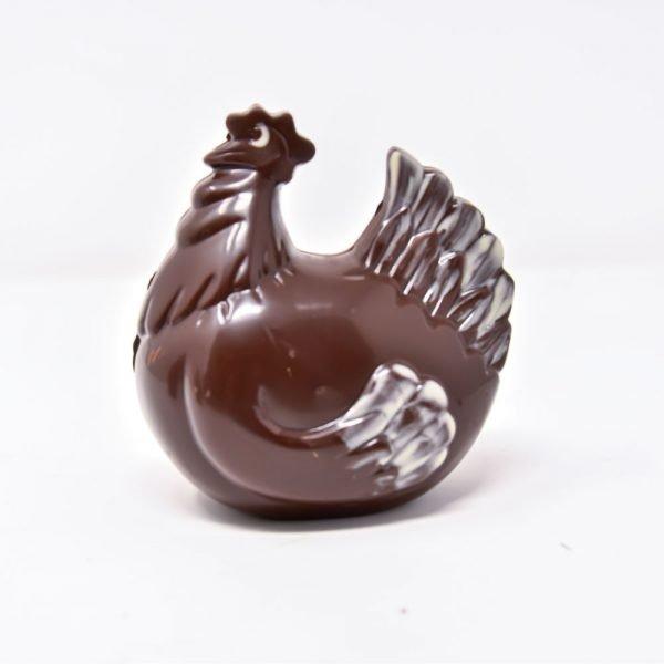 Durig Chocolatier Lausanne - Poule en chocolat noir bio